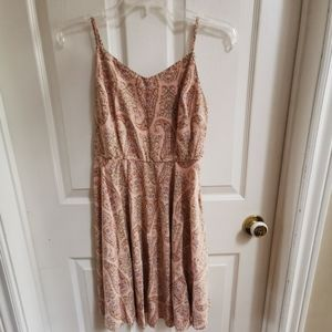 Peach with Paisley Pattern Dress